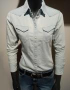 Jasna Dżinsowa Koszula Slim Fit XS Wrangler...