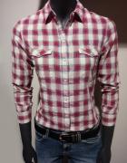 Koszula w kratę XS LEE Różowo biała...