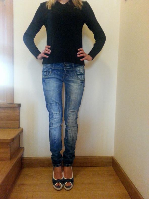 jeansy włoskiej marki TERRANOVA rozm S ITALY...