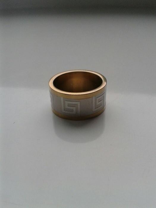 Pierścionek obrączka stal kolor złoto srebrny