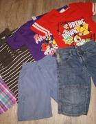 Zestaw chłopiec koszulki szorty paka Angry Birds rozm 104 110...