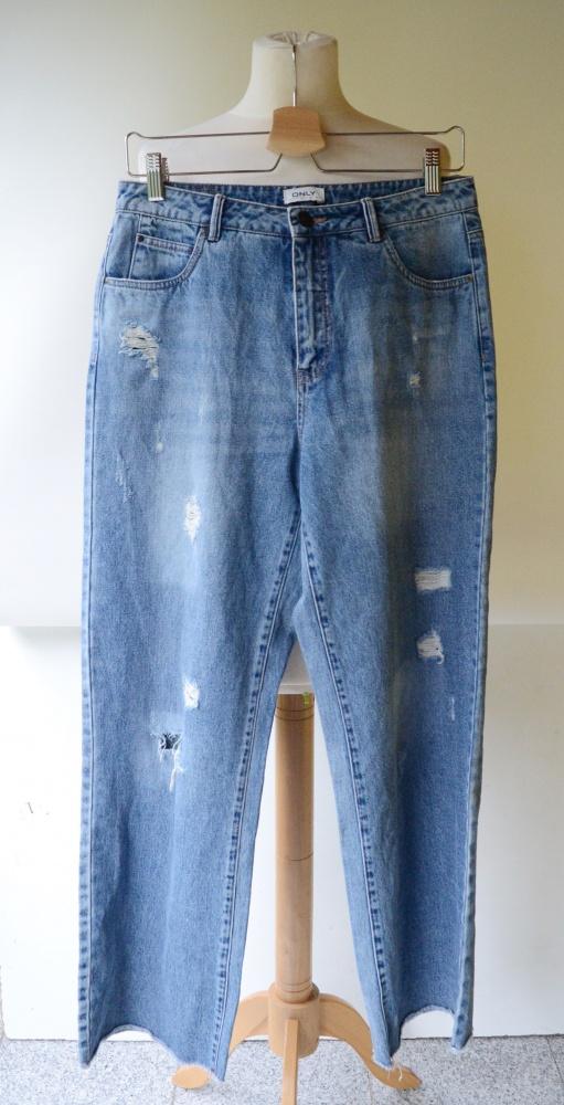 Spodnie Spodnie Jeansowe Dziury Only W38 L34 Proste Nogawki Przetarcia