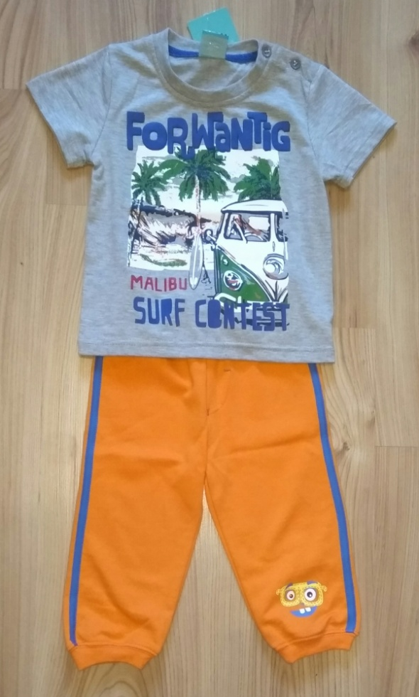 Nowy komplet bluzeczka i spodnie dresowe chłopięce...