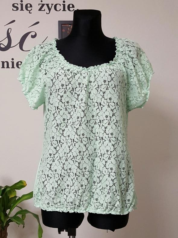 koronkowa miętowa bluzka Odyssee