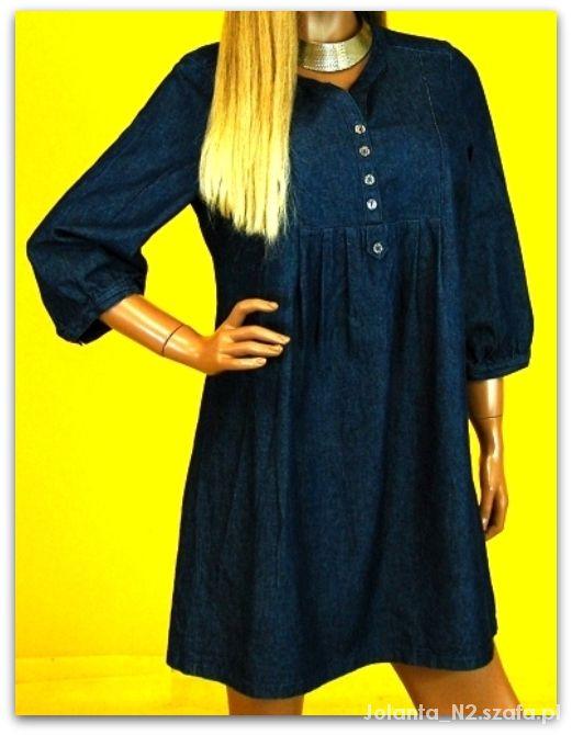 44 XXL F&F Jeansowa tunika sukienka
