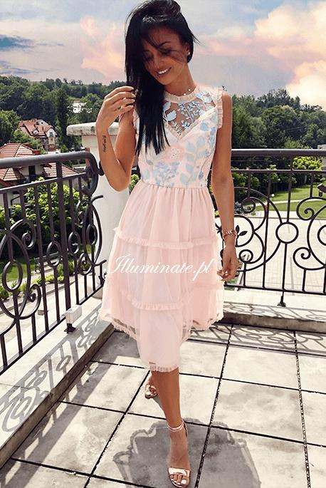 Suknie i sukienki Brzoskwiniowa piękna suknia Illuminate S