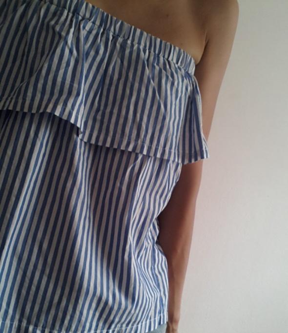 Bluzka hiszpanka bez rękawów paski