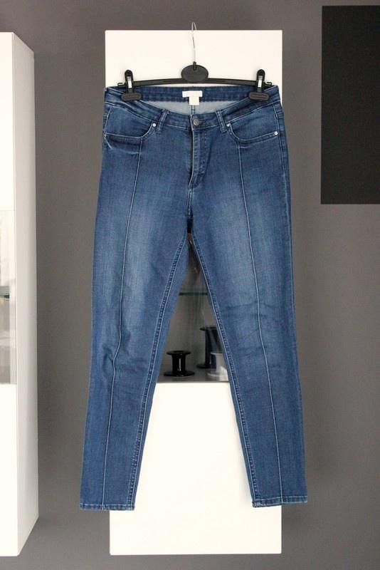 jeansy rurki dżinsy h&m klasyczne wysoki stan wysokim stanem high waist elastyczne skinny