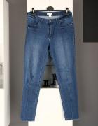 jeansy rurki dżinsy h&m klasyczne wysoki stan wysokim stanem hi...