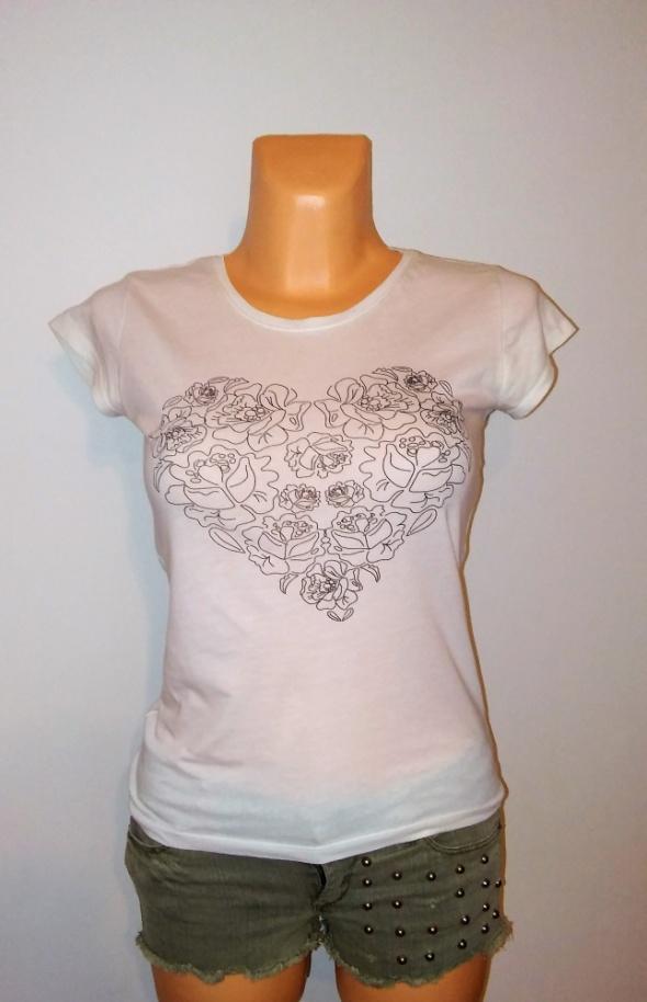 Stylowy tshirt damski Sinsay XS bluzka koszulka...