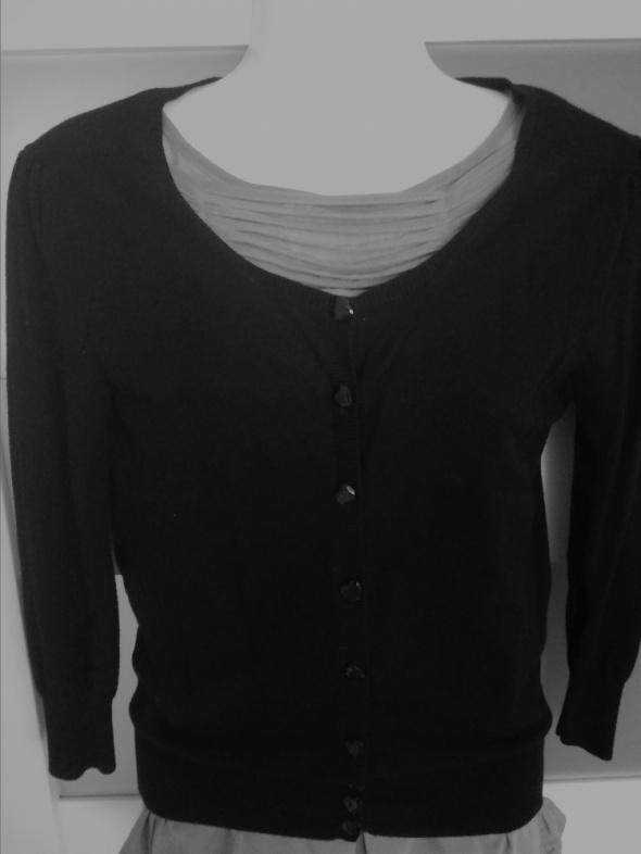 Czarny rozpinany sweterek reserved XS S