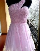 Sukienka Forever Unique różowa tiul kwiatuszki Asos