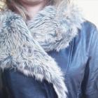 ramoneska skórzana dżety futro pasek kurtka