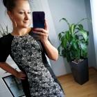Elegancka czarno biała sukienka F&F 36 S