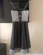 Sukienka gorsetowa rozkloszowana sylwester studniówka 36 S...