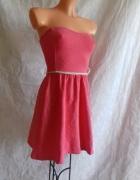 Różowa sukienka Bershka S...