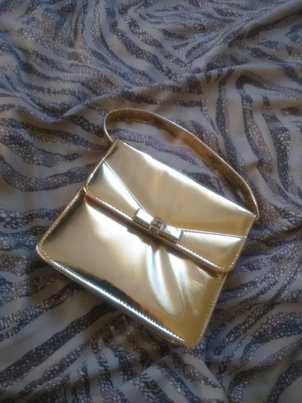 Sylwester studniówka mała złota torebka do ręki