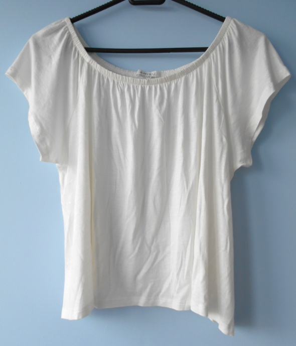 Amisu luźna bluzka biała oversize...