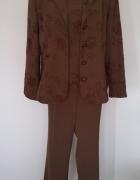 Komplet damski żakiet spodnie bluzka 48...