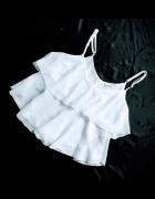 falbanki elegancka bluzeczka biała szyfonowa 34...