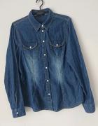 F&F jeansowa koszula na napy