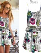 Sukienka w kwiaty na ramiączkach rozm SM...
