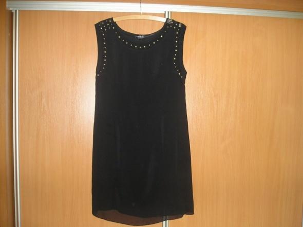 Sukienka czarna z dżetami 38 Kappahl