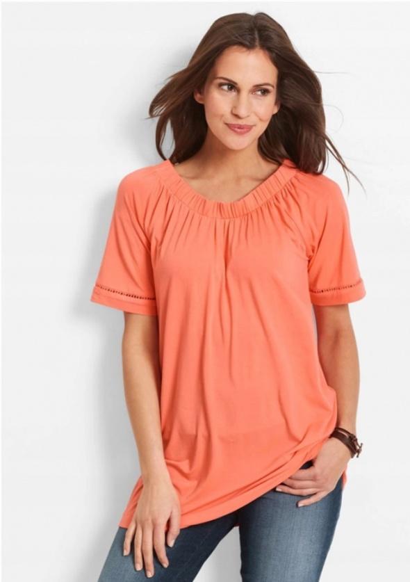 Pomarańczowa luźna bluzka shirt...
