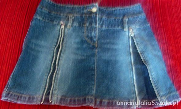 Jeansowa mini spódniczka biodrówka