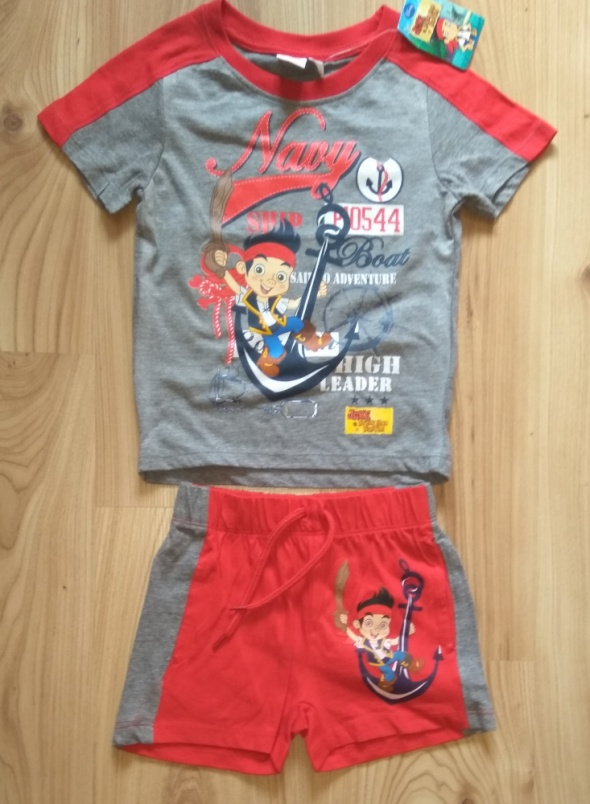 Komplety Krótkie spodenki koszulka Piraci z Nibylandii Disney komplet 92 98