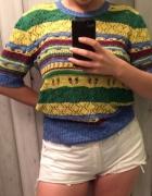 Kolorowa szydełkowa bluzka Zara