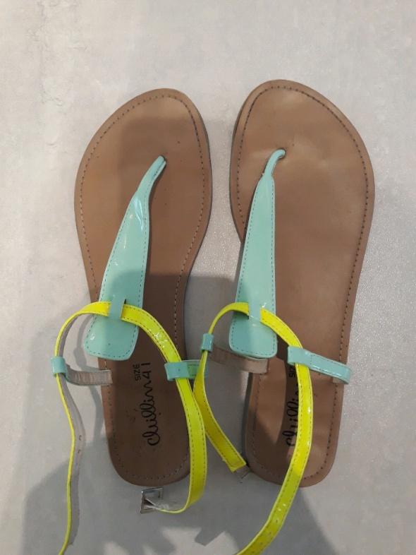 Sandały Pastelowe sandałki