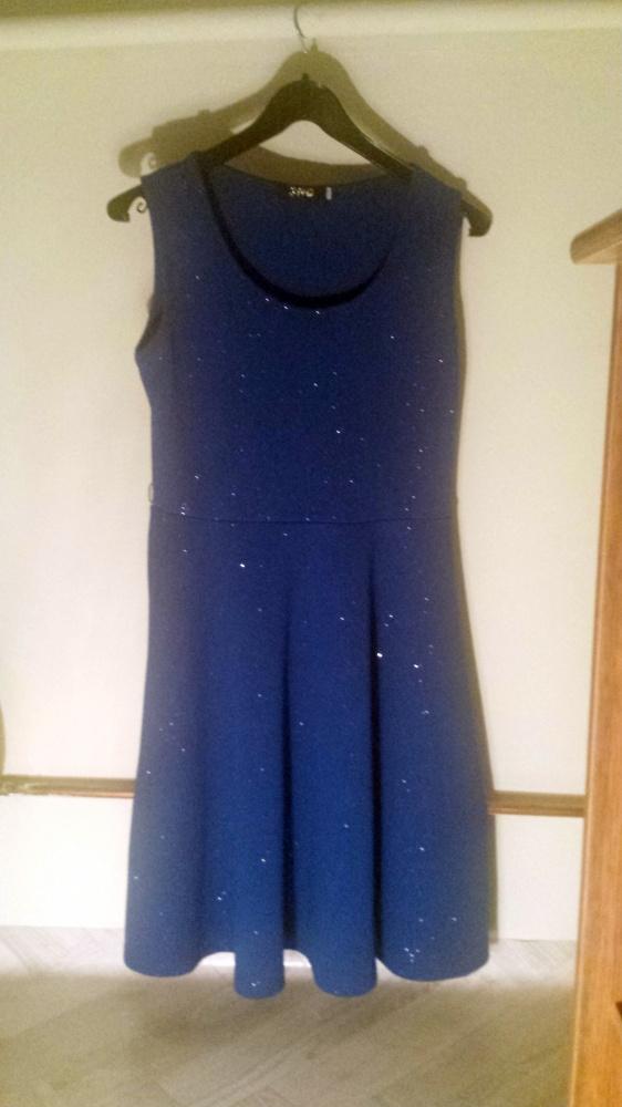 Granatowa błyszcząca sukienka S M
