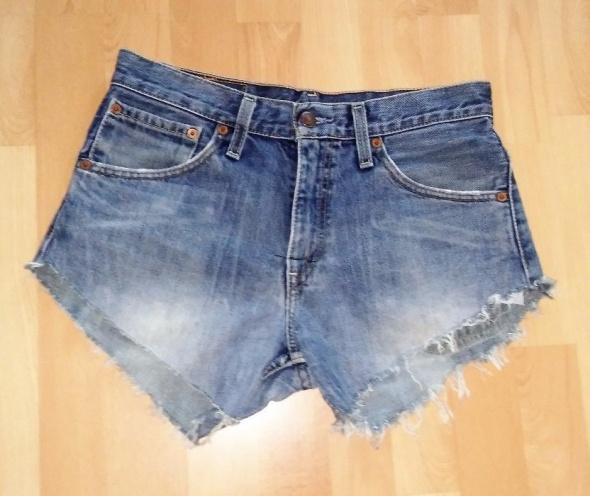 Krótkie spodenki jeansowe damskie wysoki stan S