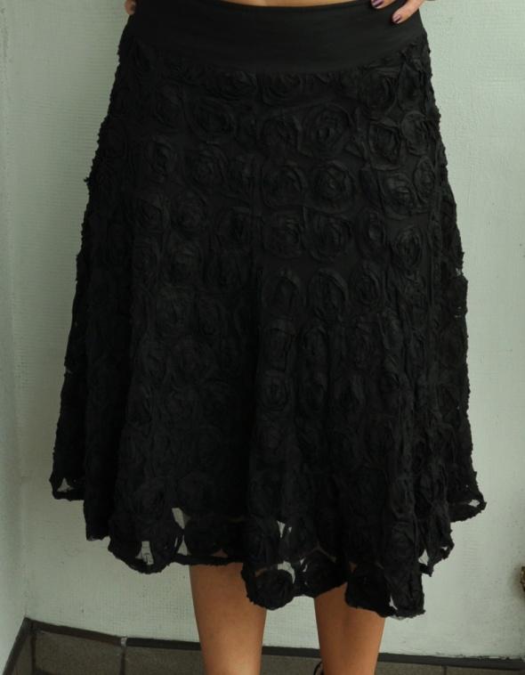 czarna spódnica róże goth...