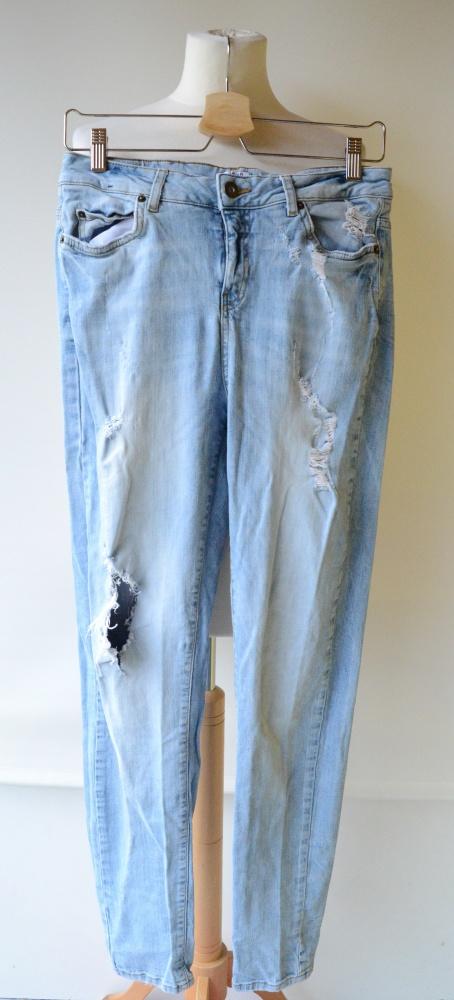 Spodnie Jeans Dziury Vero Moda M 38 28 34 Rurki...