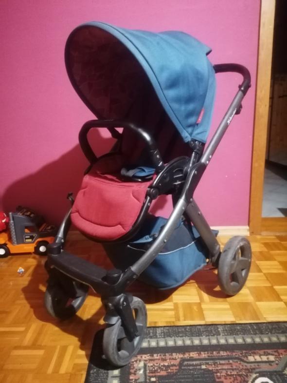 Wózek Xlander xPulse niebiesko bordowy