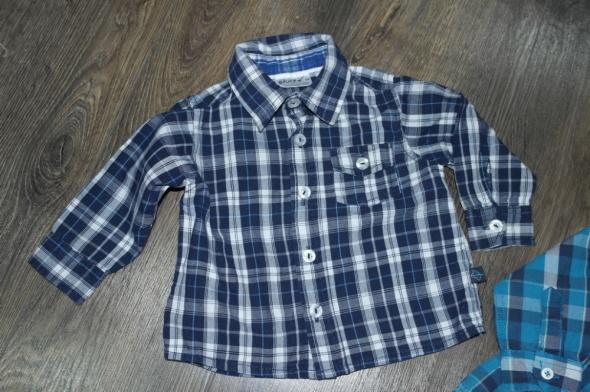 Koszulki w kratkę dla chłopczyka 74