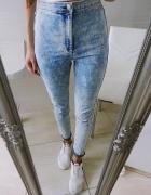 Świetne spodnie H&M rurki z wysokim stanem high waist 36 S 38 M...