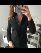 Czarna klasyczna taliowana koszula do pracy biura elegancka L 4...