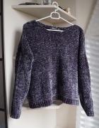 Szary welurowy sweterek M...