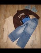 Zestaw chłopiec sweterki spodnie Thomas rozm 110...