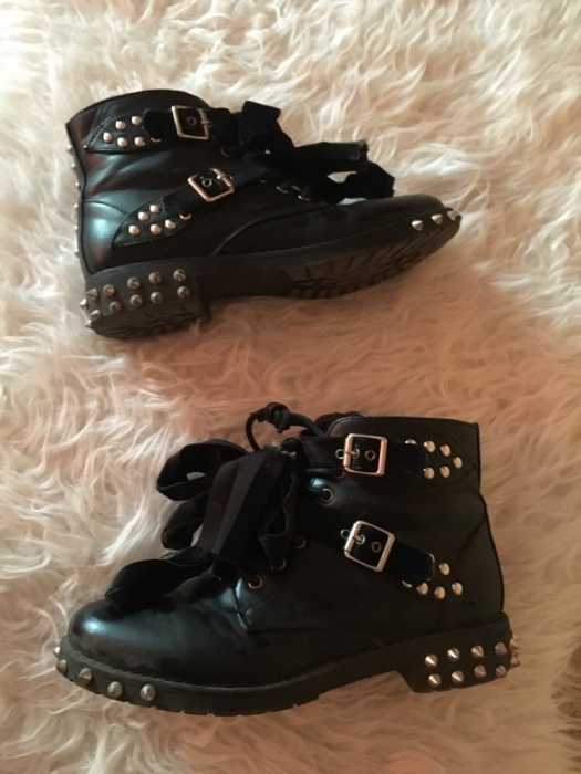 Czarne workery czarne buty botki z ćwiekami ćwieki