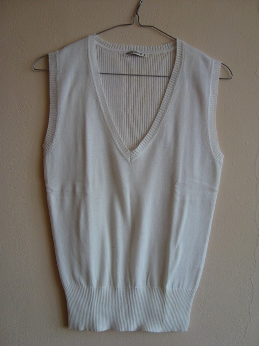 Swetry Nowy Czarny lub Biały Bezrękawnik Terranova S