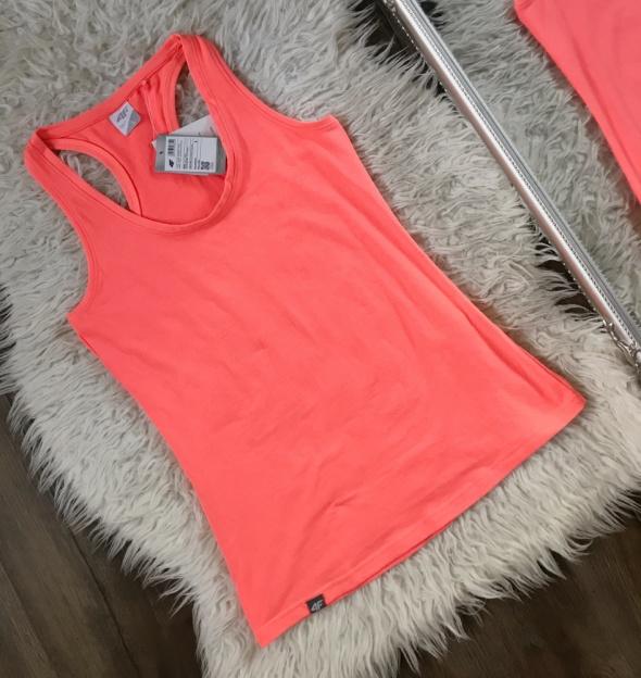 4F Pomarańczowy top bluzka bokserka neon koral nowy z metką rozm L
