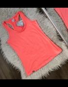4F Pomarańczowy top bluzka bokserka neon koral nowy z metką roz...