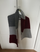 szalik robiony na drutach