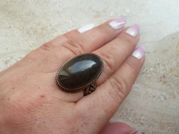 srebrny ZSRR kamień bronzyt...