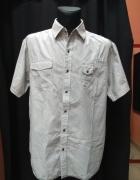 Koszula męska biała czarne paski REFREE XXL...