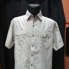 Koszula męska biała czarne paski REFREE XXL